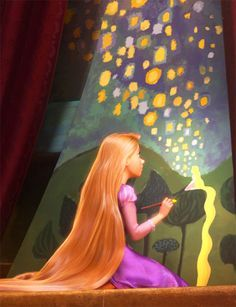 I can relate myself to Repunzel: My hubs thinks he's the bomb & won't let me cut my hair I'm an artist who feels isolated and just wants to get out and explore