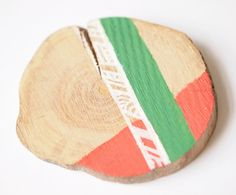 Items similar to Coral and Green Brooch, Painted wood Branch slice on Etsy Painted Branches, Painted Wood, Work Uniforms, Painting On Wood, Stationery, Coral, Unique Jewelry, Brooches, Handmade Gifts