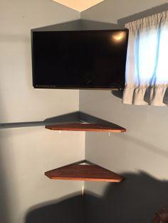 1000 ideas about corner tv shelves on pinterest corner. Black Bedroom Furniture Sets. Home Design Ideas