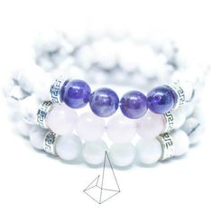 The Three Friends Opal, Amethyst, Three Friends, Rose Quartz, Diy Gifts, Beaded Bracelets, Etsy, Accessories, Jewelry