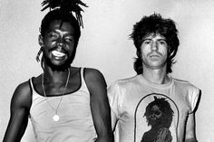 Peter Tosh and Keith Richards Peter Tosh Jamaican reggae musician who was a core member of the band The Wailers que documento! Peter Tosh, 1 Peter, Keith Richards, Richards Guitars, Jazz, Reggae Artists, The Wailers, Reggae Music, Music Icon