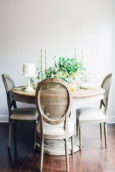 Image result for rustic round dining table