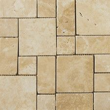 Natural Stone Mini Versailles Random Sized Travertine Unpolished Mosaic in Beige