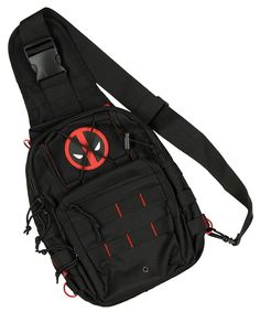 Marvel Deadpool Logo Sling Backback ** Check out this great product. (This is an Amazon Affiliate link and I receive a commission for the sales)
