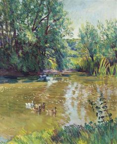 THE POND, CHARLESTON by Duncan Grant