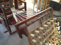 Using a Creel to warp the Osma Gallinger Tod Loom