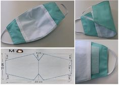 Mascara de proteção passo a passo: Moldes e Medidas Sewing Hacks, Sewing Crafts, Sewing Projects, Easy Face Masks, Diy Face Mask, Sewing Patterns, Crochet Patterns, Diy Mask, Learn To Sew