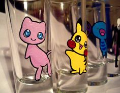 Pokemon shots #glasspainting