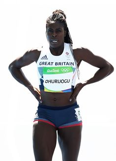 Christine Ohuruogu of Great Britain competes in round one of the Women's 400m on…