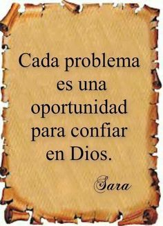 Ten fe en Dios..... Cree en ti.....