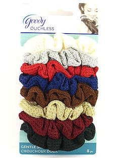 Goody Ouchless Shimmery Hair Scrunchies - 8 Pcs.  (31032)