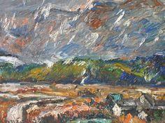 小西安夫 「平群の里に雪が降る」 (1976年) 油彩6号