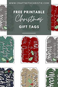 Free printable Christmas Gift Tags   hand lettered gift tags   hand lettered art   lettering   lettered printable   christmas printable   christmas tags   #christmasprintable #freeprintable