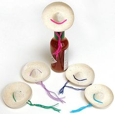 Cinco de Mayo Decorations Mini Straw Sombrero Image $0.25 each