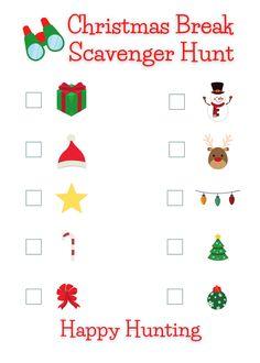 Preschool Christmas, Toddler Christmas, Christmas Games, Christmas Crafts, Christmas Scavenger Hunt, Scavenger Hunt For Kids, Scavenger Hunts, Gingerbread Man Coloring Page, Free Christmas Printables