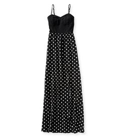 Polka Dot Convertible Knit Maxi Dress from Aéropostale