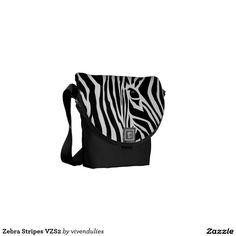 Zebra Stripes VZS2 Messenger Bag