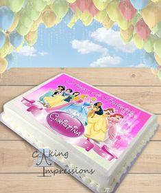 Disney Princess Edible Image Cake Topper [SHEET]