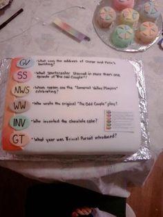 Trivial Pursuit cake