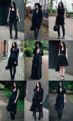 Favourite all black outfits of 2017 / FAIIINT.com
