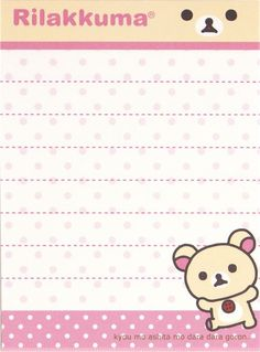 Rilakkuma mini Memo Pad bear face by San-X 4