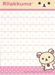 Rilakkuma mini Memo Pad bear face by San-X 4