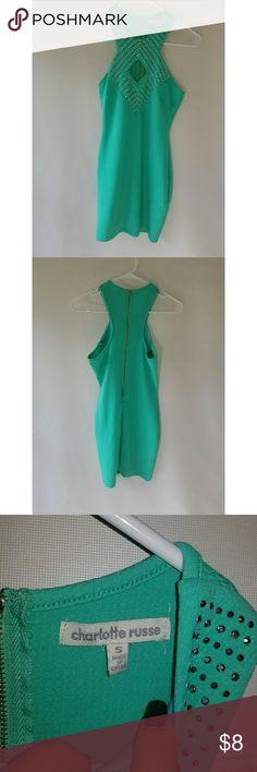 Charlotte Russe Dress Aqua mini dress with rhinestones Charlotte Russe Dresses Mini