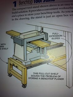 Slide Out Planer Station---Need one of these in my kitchen for my Kitchenaid mixer