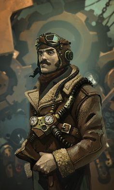 Captain Blimp - Ian McQue - Planet Steam | Steampunk Tendencies