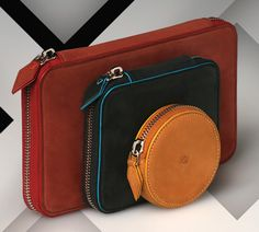 Beautiful leather accessories from Quamta Spring 2012.