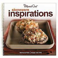 "#2223 - The Pampered Chef® Stoneware Inspirations —  More than 60 inspiring recipes made using our Stoneware Collection! Chapters feature ""Easy Appetizers,"" ""Main Dishes & More,"" ""Something Sweet,"" and ""Table for Two."" Includes make-ahead recipes for multiple family meals, recipes specially created for smaller households, and a section on Stoneware use and care. Spiral bound. English only.  http://www.pamperedchef.biz/labritta"