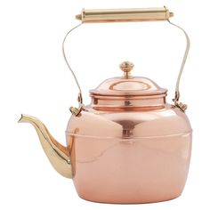 Daisy Tea Kettle - Enjoy your morning Earl grey in style with this copper tea kettle, a classic addition to any kitchen. Joss & Main