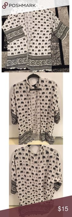 Forever 21 cardigan Super cute elephant/print cardigan from Forever 21. BRAND NEW. Never worn. *Size small but fit is very loose (fits S/M/L) Forever 21 Sweaters Cardigans