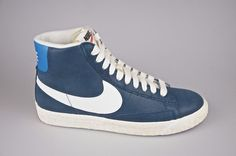 Nike Blazer Mid Suede Vintage women's Blue leather [518171-407] SZ: 8.5, 9.5 | eBay