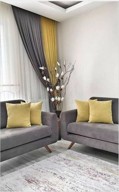 The living room color schemes to give the impression of more colorful living. Find pretty living room color scheme ideas that speak your personality. Living Room Color Schemes, Living Room Colors, Living Room Grey, Home Living Room, Living Room Designs, Living Room Decor Curtains, Home Curtains, Modern Curtains, Decor Room