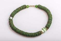 Grüne Glasperlen und Polymer Clay von THANDEKI  auf DaWanda.com