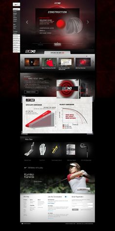 #NikeGolf 20XI Launch by Josh Ashton, via #Behance #Webdesign