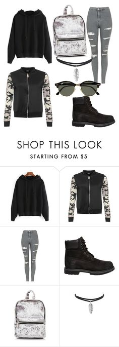 """Untitled #37"" by evalia1291 on Polyvore featuring WearAll, Topshop, Timberland and Ray-Ban"