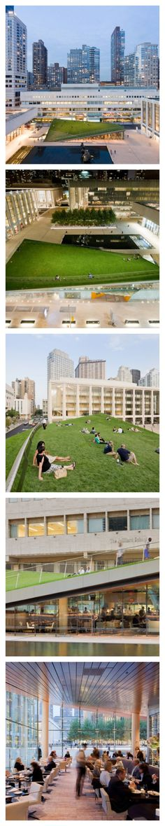 Definitely needs to be one of my pitstops on my vaca. I'm so excited!!!  Hypar Pavilion at Lincoln Center, New York City...<3