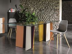 STRIPE Lacquered table Stripe Collection by Dall'Agnese design PIO