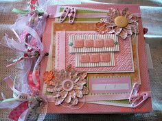 Scrapbooking by Phyllis: Baby *Maya* Zoe Premade Scrapbook 8x8 Bag Album