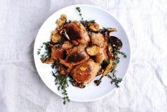 Meyer lemon chicken skillet.  Looks good and easy.