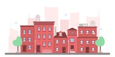 How to create a flat cityscape in Adobe #Illustrator