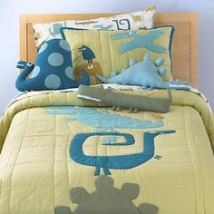Super cute dinosaur bedding from Land of Nod.  Too bad about that price, though... :/