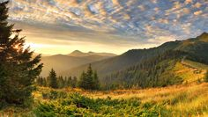 Scenery Sky Mountains Grass Nature
