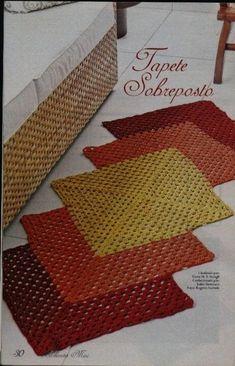 de tapetes de barbante_Pesquisa do Baidu Crochet Mat, Crochet Rug Patterns, Crochet Carpet, Crochet Home, Irish Crochet, Crochet Doilies, Crochet Stitches, Yarn Crafts, Diy And Crafts