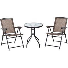 Charles Bentley 3 pièces Tulip fonte d/'aluminium Patio Bistro Set de table et 2 chaises