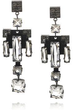LANVIN - Geometric Swarovski crystal earrings very malpal, for the rare times i wear jewellery