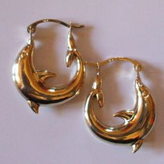 9ct Gold Dolphin earrings JER232