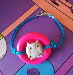Hemp Owl Button Bracelet